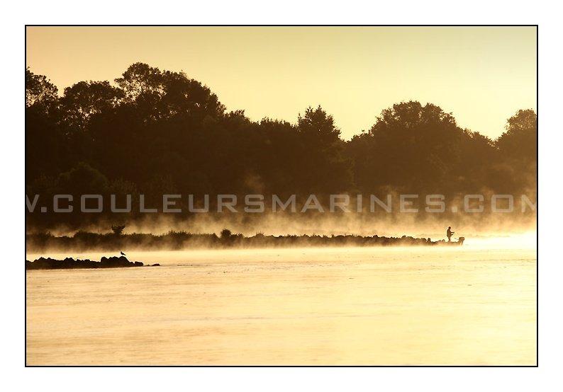Photo de la Loire dans la Brume prés de Champtoceaux