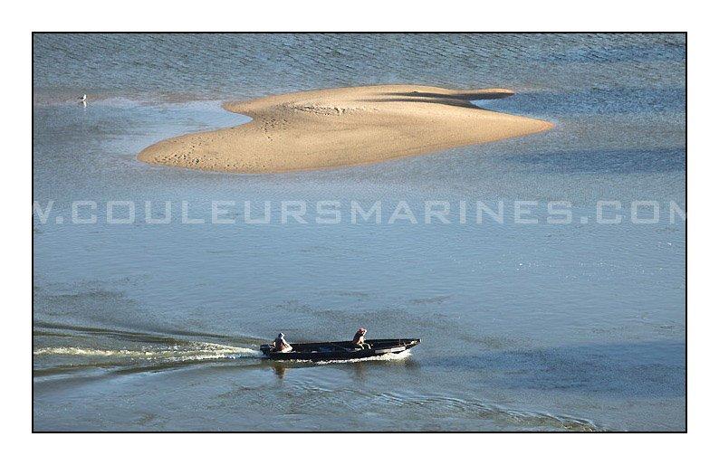 Photo, Champtoceaux, La Loire, Pecheur, Barque, Plate, Photos de la Loire, Champtoceaux, Oudon,