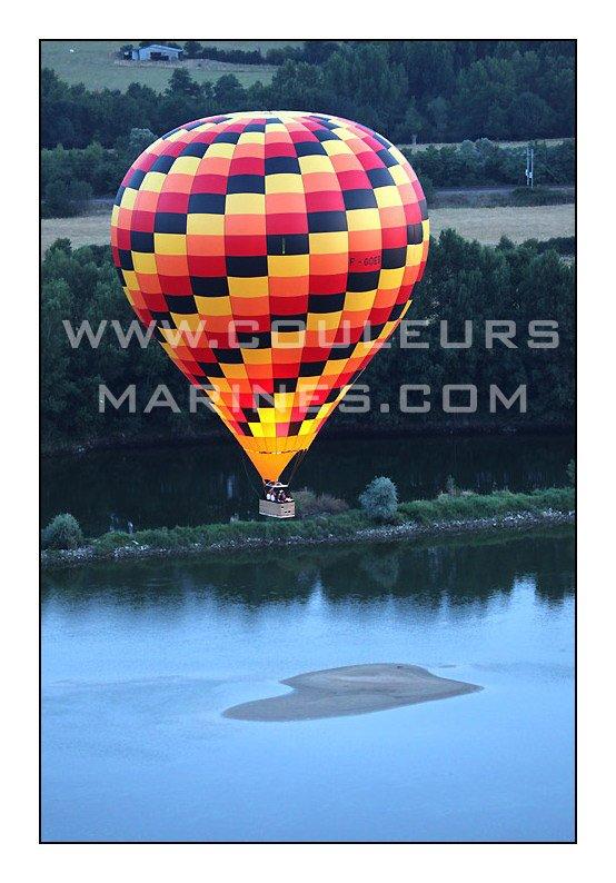 Mongolfiere sur la Loire, Vol en mongolfiere sur la Loire