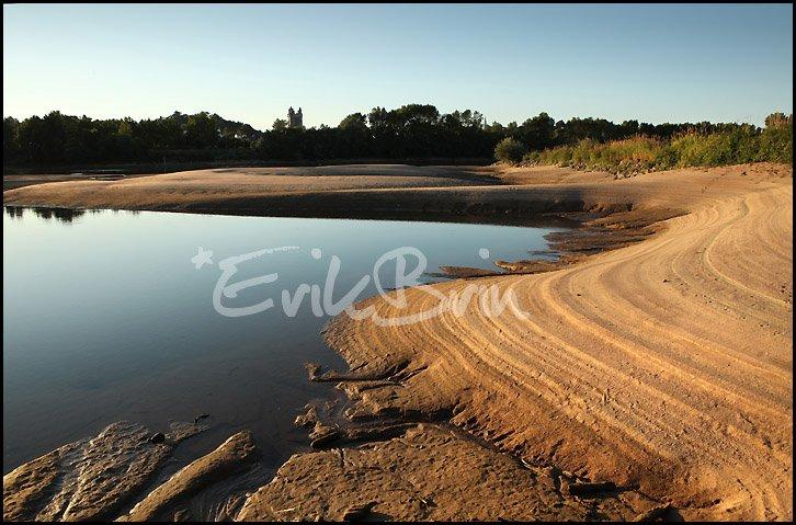 La Loire au coucher du soleil, photo et paysages des bords de Loire en Loire Atlantique prés de Oudon.