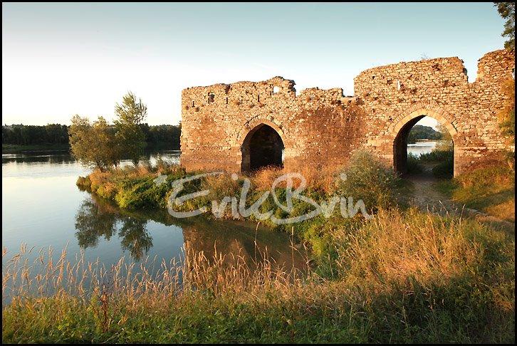 Champtoceaux, vieux pont sur la Loire, photos des bords de Loire, Oudon, Maine et Loire, Loire Atlantique, paysages
