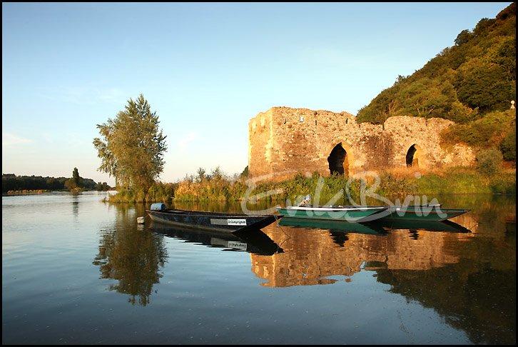 Champtoceaux, photos de la Loire au vieux pont sur le site du cul du moulin en face Oudon sur les bords de Loire