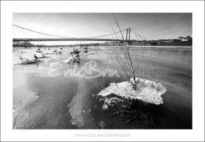 La Loire prise par la glace à Ancenis
