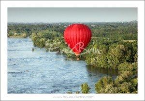 La Loire dans la région de Nantes. Vols en montgolfière